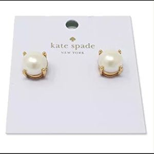 NWT Kate Spade Cream Pearl Gold Plated Earrings
